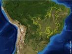 Este mapa mostra a localização da região ecológica do Cerrado no Brasil. </br></br> Palavra-chaves: cerrado, clima, bioma.