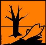 A natureza de substâncias perigosas pode ser identificada por meio de ícones que devem constar nos rótulos dos produtos. Significado do símbolo:A libertação dessa substância no meio ambiente pode provocar danos ao ecossistema a curto ou longo prazo. Devido ao seu risco em potencial, não deve ser liberado em encanamentos, no solo ou no ambiente. Tratamentos especiais devem ser tomados! <br /><br /> Palavras-chave: simbolos, rótulos, produtos químicos, perigoso.