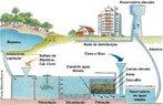 Uma estação de tratamento de água (ETA) é basicamente um conjunto de tanques e filtros, onde a água passa, em seqüência, pelos seguintes processos: desinfecção, floculação, decantação, filtração e cloração. No reservatório de entrada da ETA, a água recebe três tipos de produtos químicos: cal, sulfato de alumínio e cloro. <br /><br /> Palavras-chave: Estação de Tratamento de Água, ETA, desinfecção, floculação, decantação, filtração e cloração.