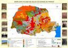 O mapa apresenta a distribuição dos diferentes tipos de solos no Estado do Paraná. <br / ><br /> Palavras-chave: Paraná, agricultura, tipo de solos, rochas.